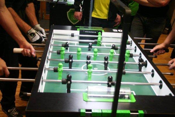 Turnierfoto mit Kicker LED Beleuchtung von Kickerlight