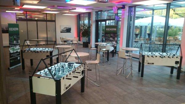 Firmenevent mit Kickerlight LED Beleuchtung
